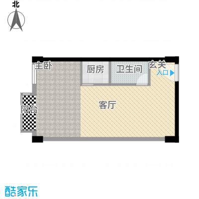 恬心家园(二期)56.70㎡10号楼CC'-DD'户型