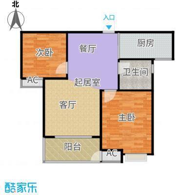 东方福郡77.00㎡5#楼C2户型