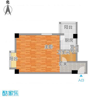 恬心家园(二期)64.67㎡10号楼B-B'户型