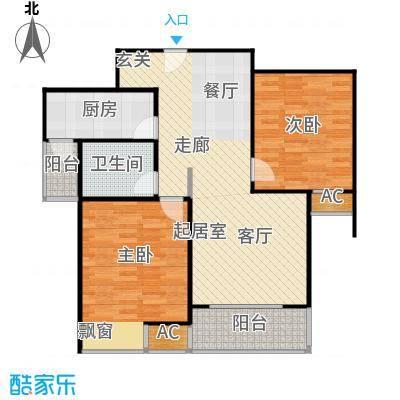 徐汇锦梅苑90.00㎡房型户型