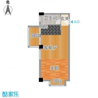 恬心家园(二期)62.93㎡10号楼G-G'户型