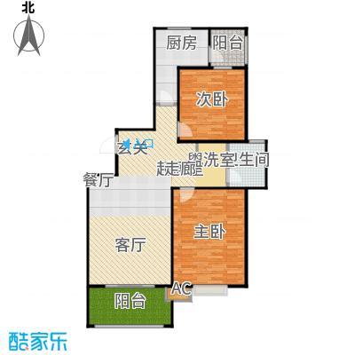 大上海紫金城100.00㎡房型户型