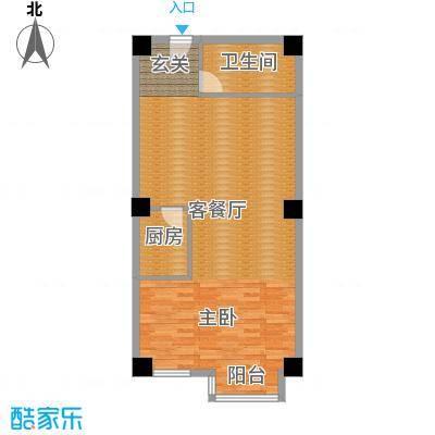 恬心家园(二期)70.92㎡10号楼J-J'户型