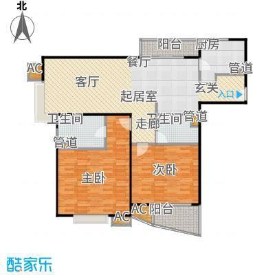 水木年华花园110.00㎡房型户型