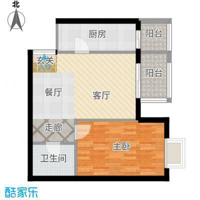 依莲轩二期70.40㎡A3户型