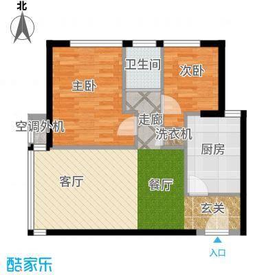 金百国际61.62㎡户型
