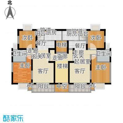 华光紫荆苑86.00㎡房型户型