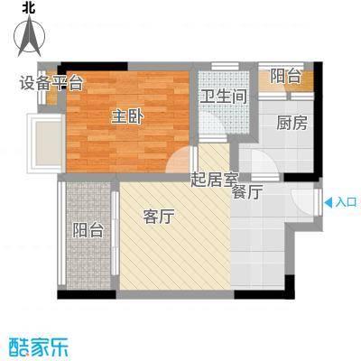 湖榕锦苑43.93㎡-户型