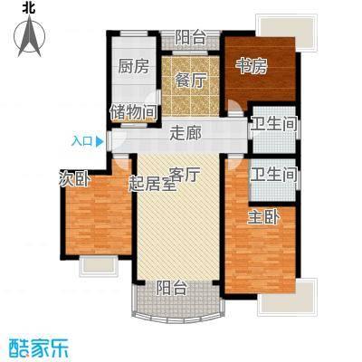 雍江星座143.23㎡房型户型