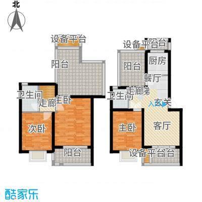 欣晟家园128.84㎡房型复式户型