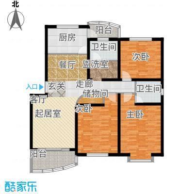 都林龙苑123.00㎡房型户型