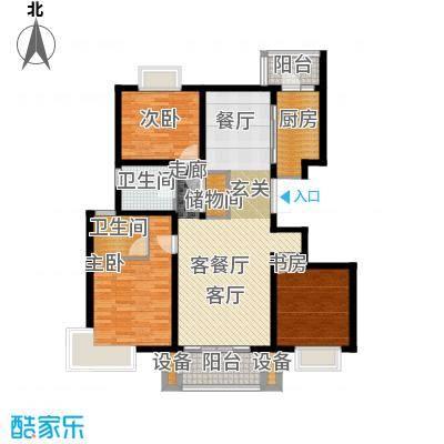 中交凯旋城C1户型3室1厅2卫1厨