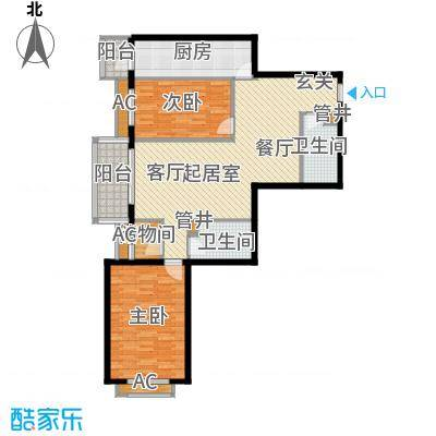 依莲轩(一期)108.90㎡C户型