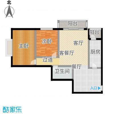 天天家园112.78㎡二居室户型