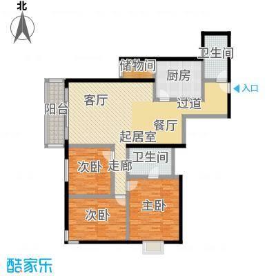 天天家园144.75㎡三居室户型