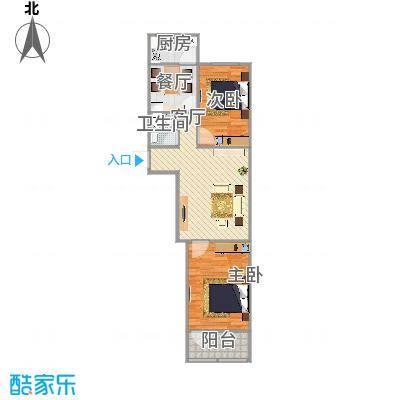 玉函新南区的两室户型图