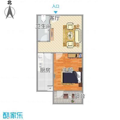 玉函新南区的一室户型图