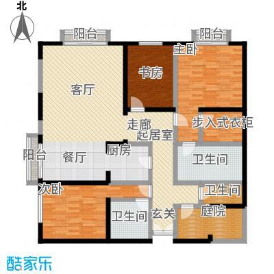 金桥国际公寓户型3室3卫
