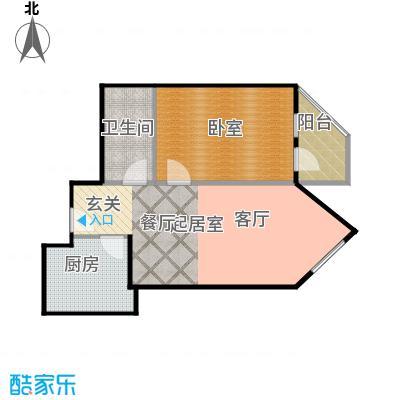 宝华家园(尾盘)61.40㎡户型