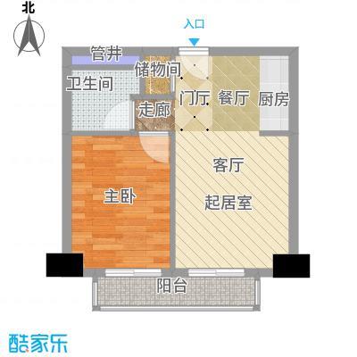 远见名苑45.00㎡户型