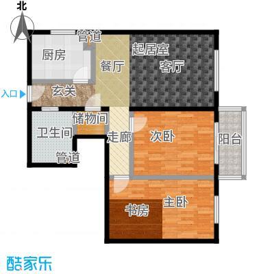 丽景苑85.89㎡户型