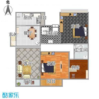 盛世华庭90方两室两厅