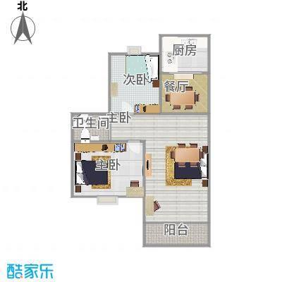 阳光水岸98平两室两厅