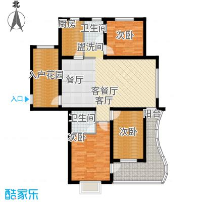 海韵馨园户型3室1厅2卫1厨