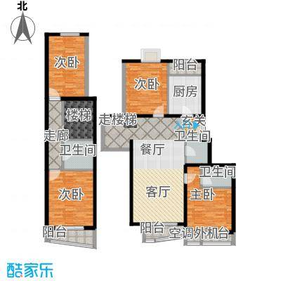 天天家园208.57㎡四居室户型