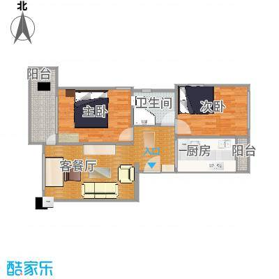 71平方两房两厅