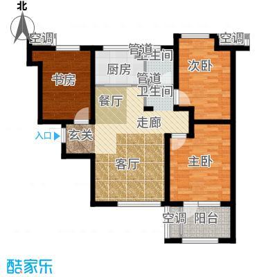 荣盛白鹭岛89.93㎡二期12号楼C户型