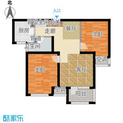 荣盛白鹭岛78.57㎡一期10号楼B户型