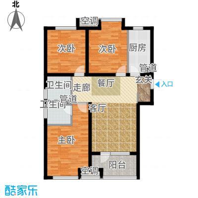 荣盛白鹭岛98.66㎡一期3号楼4号楼C户型