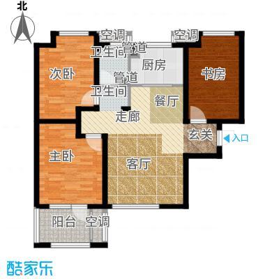 荣盛白鹭岛89.93㎡一期6号楼11号楼A户型