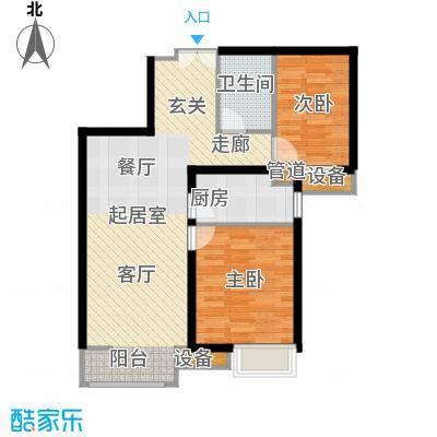 首开国风美唐90.00㎡二期朗观17号楼4层以上1单元02户C22室户型