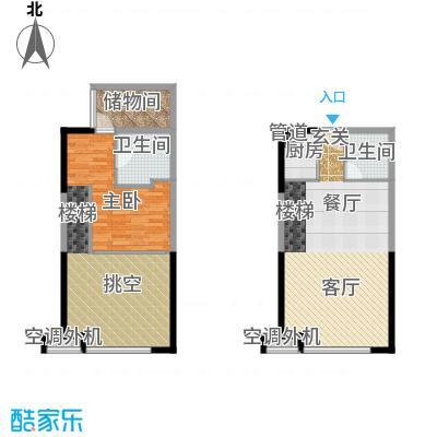 珠江四季悦城65.00㎡7号楼一居平面户型