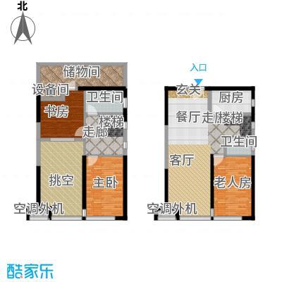 珠江四季悦城90.00㎡7号楼三居户型
