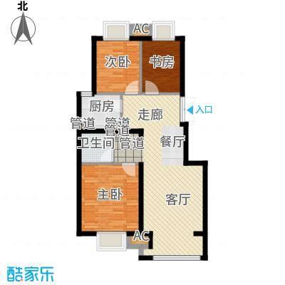 中国铁建·原香漫谷88.00㎡中国铁建・原香漫谷C1-2C1-2反户型
