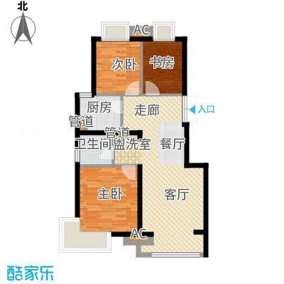 中国铁建·原香漫谷91.00㎡中国铁建・原香漫谷一期C2户型