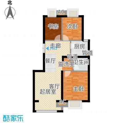 中国铁建·原香漫谷88.00㎡中国铁建・原香漫谷四期C1-1户型