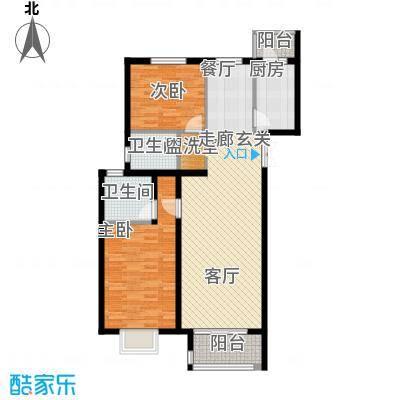 上林溪南区108.00㎡一期B1、B1反(售罄)户型
