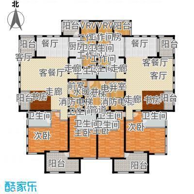 中粮祥云国际生活区292.44㎡D(1H、3H、5H楼14层)户型