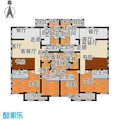中粮祥云国际生活区266.22㎡D(1H、3H、5H楼15层)户型