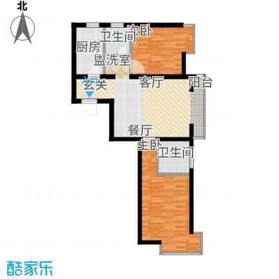 金谷美丽城83.78㎡1、7、9、13、17号楼C1户型
