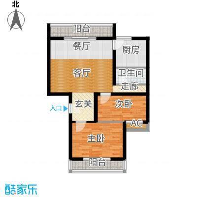 京东晓镇76.66㎡一期A户型