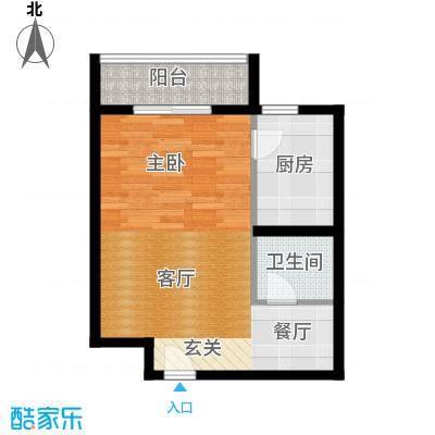 京东晓镇52.39㎡一期B户型