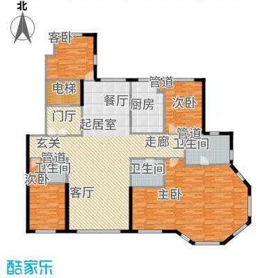 天润香墅湾1号262.00㎡H户型