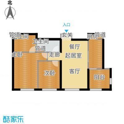 天润香墅湾1号100.00㎡A户型