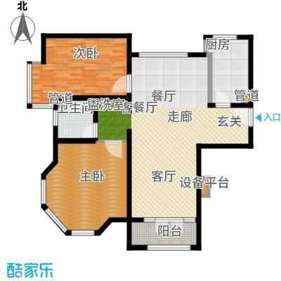 华贸·蔚蓝海岸105.00㎡华贸・蔚蓝海岸D户型