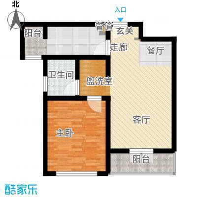 华贸·蔚蓝海岸75.00㎡华贸・蔚蓝海岸E户型